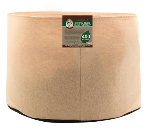 Gro Pro 400 Gallon Round Grow Bag-Tan