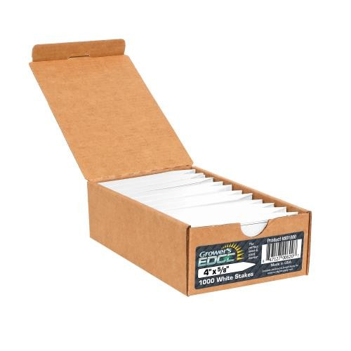 Grower's Edge Plant Stake Labels White - 1000/Box